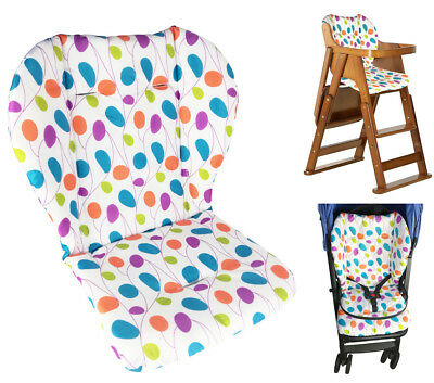 Baby Stroller/High Chair Seat Cushion Cover Breathable (Colored Leaves)
