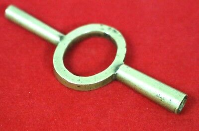 Antique French Carriage Clock Key - Brass Double Ended Clock Key 4mm & 2mm