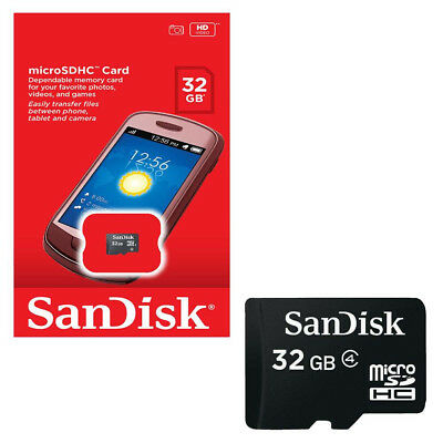 SanDisk 32GB Class 4 Micro SD SDHC TF C4 32G T-Flash Memory Card Retail Package*