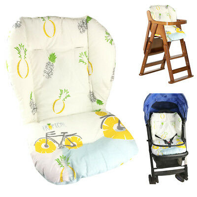 Baby Stroller/High Chair Seat Cushion Cover Breathable (Pineapple)