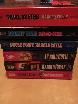 Lot of 6 HAROLD COYLE - Military Action and Suspense - paperbacks