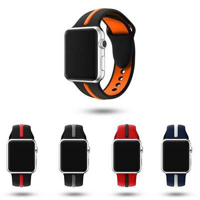 New Replacement Silicone Wrist Band Strap For 38/42mm Apple Watch Series 1 2 3 4
