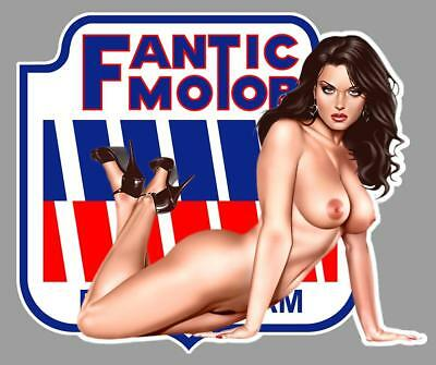 FANTIC-MOTOR PIN UP right Sticker droite