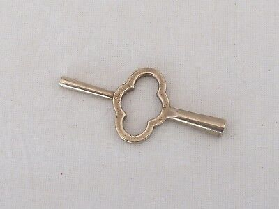 Old Brass Double Ended Carriage Clock Key Aprox 3 mm Square Winding Key