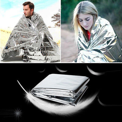 Outdoor Emergency Solar Blanket Survival Safety Insulating Mylar Thermal Heat PW
