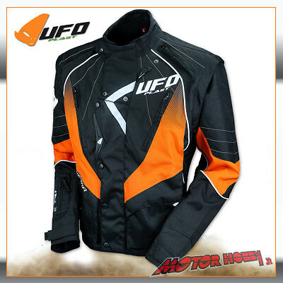 Giacca Off Road Enduro Quad Ufo Enduro Jacket 2019 Nero Arancio Taglia Xxl