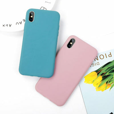 Fashion Candy Color Matte Soft Phone Case For iPhone 8 7 6 6s Plus X XS Max XR