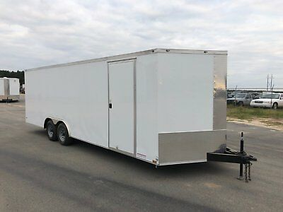 8.5X24 V-Nose Enclosed Car Hauler Trailer 5200 Lb Axles 1Pc Roof 5 Year Warranty