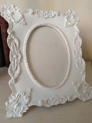 Shabby chic, Vintage, Ornate, French-Antique style. White Pic. Frame 9.5x 8inch