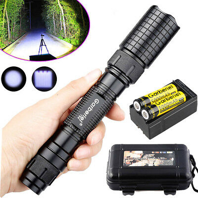 Tactical Police 90000Lumens T6 5Modes Zoomable LED Flashlight Aluminum Torch USA