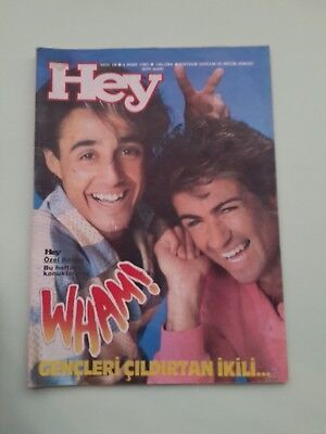 HEY George Michael WHAM cover turkish magazine and others ! 1985