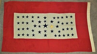 "Large, US, Son In Service, 48 Star Flag, 58"" X 32 1/2"", One Gold Star"