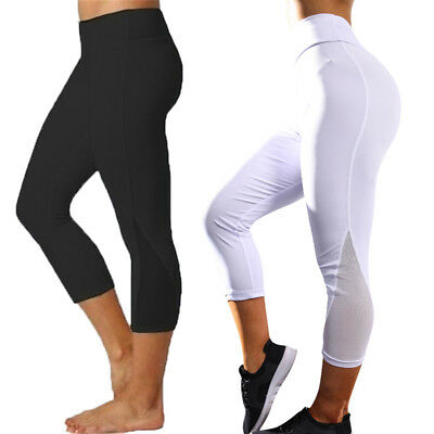 Womens Ladies Sport Compression Fitness Leggings Running Yoga Gym Pants Workout