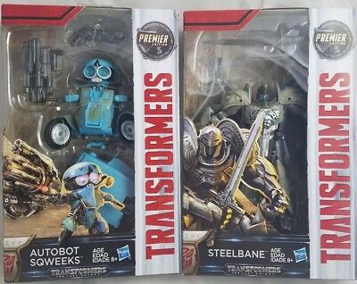 Transformers The Last Knight - Steelbane and Autobot Sqweeks- Deluxe Class
