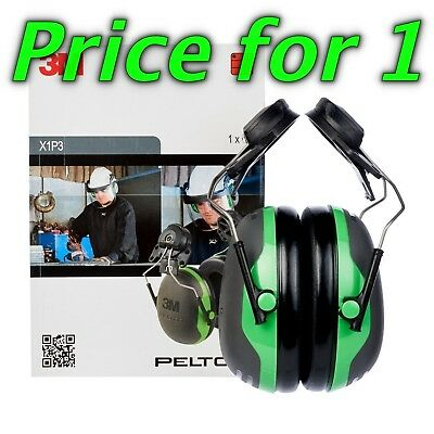3M PELTOR X Series , one set ubgrade Optime Ear Muffs Helmet Mounted, Green,X1P3