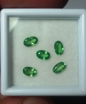 Aaa - Natural Tsavorite Garnet Ct 1.21 - Vs - Top Green Oval Cut Origin Tanzania