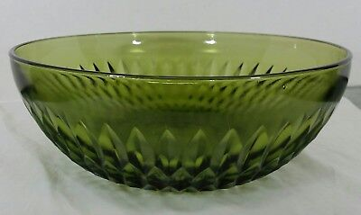 Rare Large Vintage Indiana Avocado Green Depression Glass Salad Bowl