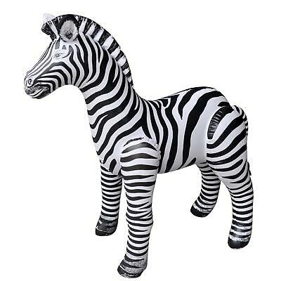 Inflatable Zebra  56 inch Tall ANIMALS TOY FUN