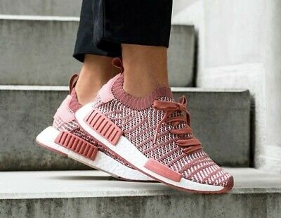 sports shoes 36227 1c99c Adidas Originals Nmd R1 Stlt Pk Pink Primeknit Cq2028 Womens Boost Sneakers