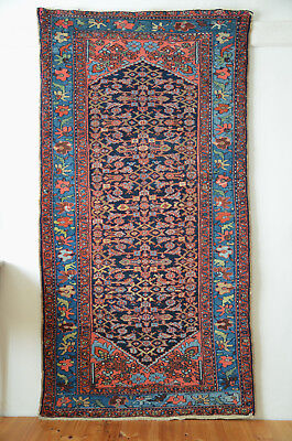 antique Orientteppich wonderful pers Malayer 184x101 blue Malair rug tappeto