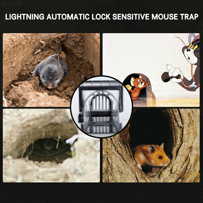4D3E Automatic Animal Black Mouse Capture Cage Rat Trap Kits Rodent Catch