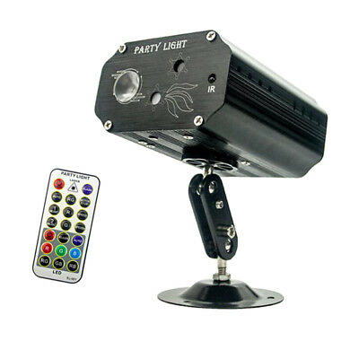 Laser LED Sound-Activated Party Light Strobe RB Beamer with Remote Control
