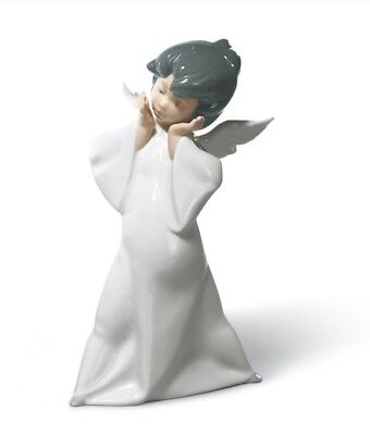 MIB! $195 Lladro Mime Angel Porcelain Figurine #4959 -1977 Issue Date.