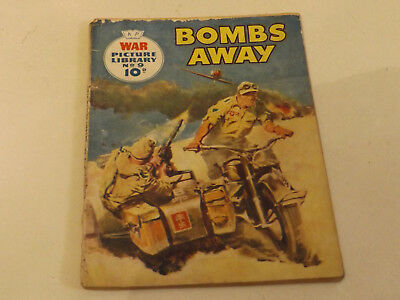 WAR PICTURE LIBRARY NO 09 !,dated 1959 !,FAIR for age,great 59 !YEAR OLD issue.