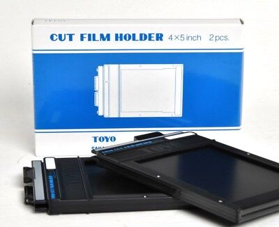 TOYO 4 x 5 CUT FILM HOLDER ( TWIN PACK, 2 DOUBLE-SIDED HOLDERS IN BOX )