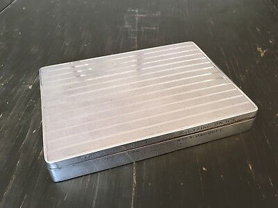 Antique Solid Sterling Silver Cigarette Trinket Box Art Deco Style For Repair