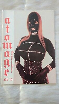 Atomage Supplement no15 rubber leather fetish magazine