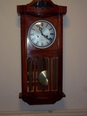 vintage c wood & sons striking  wall clock( 15 day)