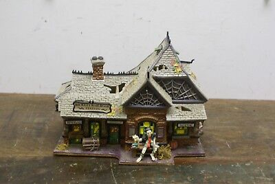 Dept 56 Rickety Railroad Station 800000 Snow Village Halloween NO LIGHTS/SOUND