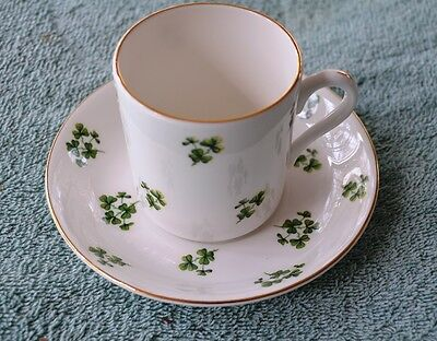 Mint Royal Grafton Green Clovers Cup And Saucer Duo