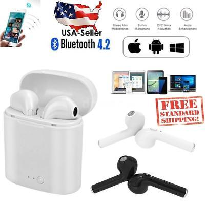 new style 77529 95c71 I7S TWS WIRELESS Earbuds Bluetooth V4.2 Airpods w/Charge Case, iPhone &  Android