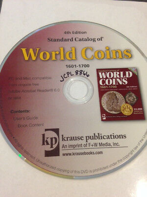 Standard Catalog of World Coins 1601-1700, 4th Edition CD in jewel case