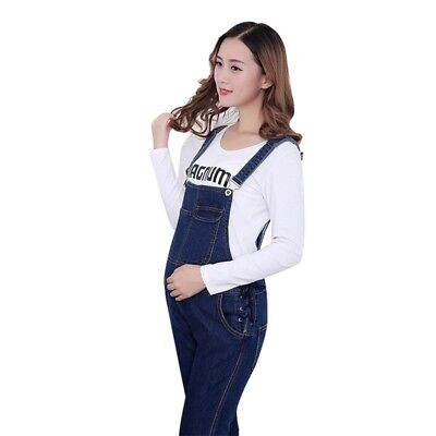 Pregnancy Maternity Denim Jumpsuits Comfortable Pants Trousers Skin-friendly New