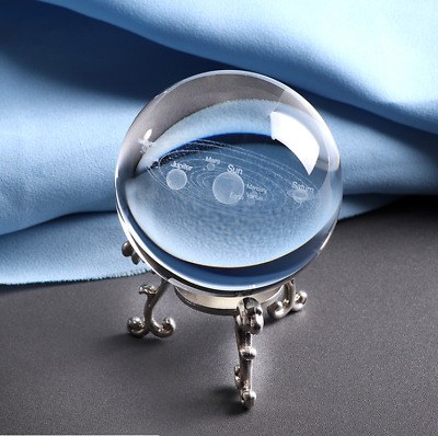 3D Solar System Crystal Ball Glass Ball Astronomical Celestial Eight Planets