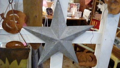 Three Galvanized Metal Barn Stars Rustic Americana  Primitive Crafts