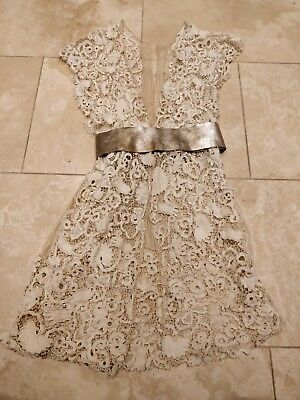 Vintage Antique Edwardian Lace Wedding Coat Size Large