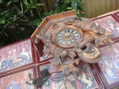 small Vintage  Cuckoo Clock   For Restoration or Spare / Repair