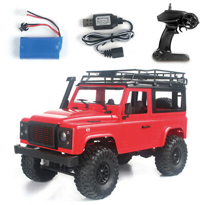 Front LED Light 1:12 4WD RC Car Off-road Military Rock Crawler Monster Truck