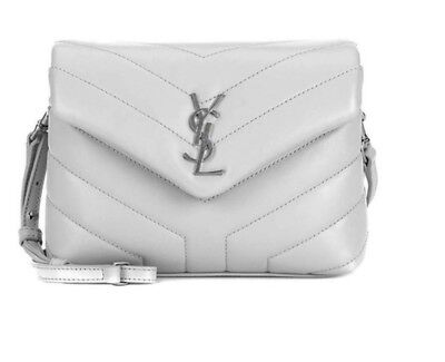 348957538030 NEW YSL SAINT Laurent Monogram Loulou Toy White Leather Cross Body ...