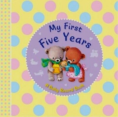 My First Five Years Baby Book Baby's Record Diary Ideal Present Keepsake Gift