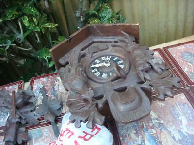 Vintage Cuckoo  Clock For Restoration or Spare / Repair