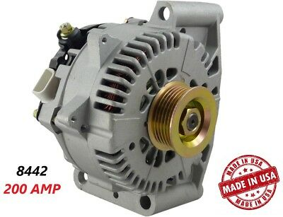 200 AMP 8442 Alternator Ford Mercury High Output Performance HD USA