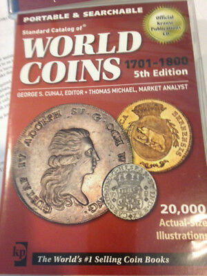 Standard Catalog of World Coins 1701-1800, 5th Edition, CD, not a physical book