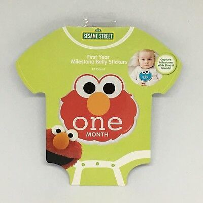 Sesame Street First Year Milestone Belly Stickers Photo Prop 0-12 Months