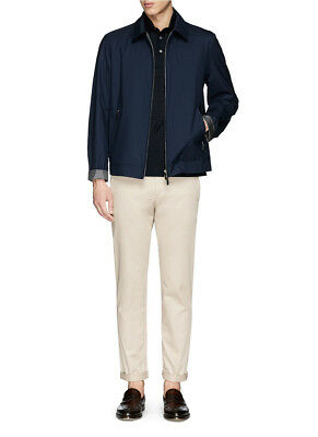 Canali Blouson Reversible Jacket Windbreaker Rain & Wind Tech Wool & Silk 44 US
