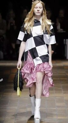 Marques'Almeida Melted Frill Pink Skirt. Size 4